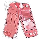 ELTD Coque Housse Étui pour Nintendo Switch Lite, Smart Cover Housse Etui Cuir Coque avec Support pour Switch Lite, Transparent