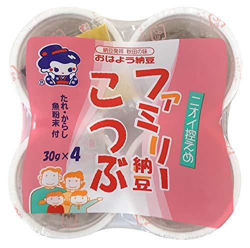 おはよう納豆 ファミリー納豆こつぶカップ4(30g×4) 12個入