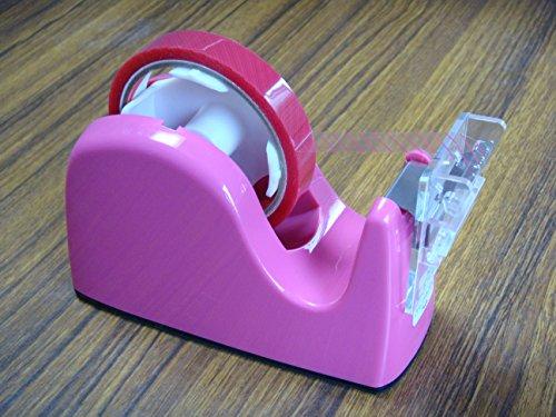 ミミタブテーパーカッターユニット+プラス社テープカッターTC−301(ピンク) <折返しツマミテープカッターユニットとカッター台のセット品>