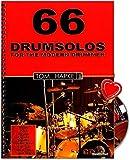 66 Drumsolos for the modern Drummer - riesige Inspirationsquelle für jeden Schlagzeuger - von Anfänger bis Profi - Lehrmaterial von Tom Hapke mit CD, Notenklammer - BOE7019 9783936026405 -