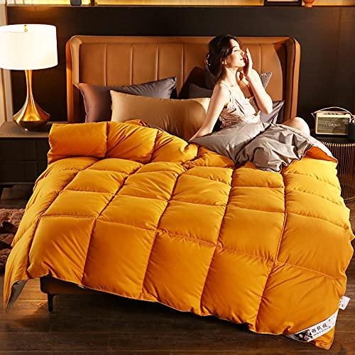 Quilt As You Go,Cool Estate Sera Controllo Climatico Giù è 4 Stagioni da Letto Matrimoniale-180x220cm 2500g_Dorato