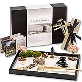 Island Falls Home Zen Garden Kit -11x8 inch Beautiful Premium Japanese Mini Rock Garden Meditation Gift Set for Home & Office Desk-top. Fine Zen Sand, 6 Tools & 11 Features Create Unique Calming Zen