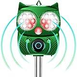 【Dasimon進化版】猫よけ 動物撃退器 害獣撃退器 超音波 ソーラー&USB充電式 警報音/強光と超音波で撃退 14LED搭載 10時間連続使用可 PIR赤外線センサー 強力フラッシュライト IP66防水 5モード 猫よけグッズ 13.5~45.5KHz 超音波スピーカー搭載 10m感知範囲 糞被害対策 設置簡単 差し込むと壁掛け型 音量調節可 猫退治 猫/鳥/ネズミ/犬/狐/コウモリ/アライグマ/ノイシシなどの動物除け 芝生/畑/庭園/農場/花壇/駐車場/公園/果樹園など保護