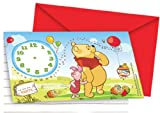 6 biglietti d'invito Winnie the Pooh™ Taglia...