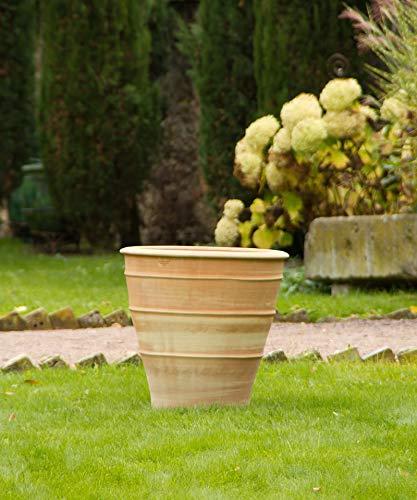 Kreta Keramik | großer handgefertiger Terracotta Topf | 60 cm | hochwertig und frostfest | mediterranes Pflanzgefäß aus Kreta | Balkon Garten Terrasse, Yucca