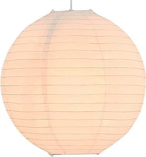 vidaXL Lámpara de Techo Colgante Redonda Luz Salón Bola Colgada de Papel Arroz Blanca Ø45 cm