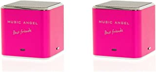 Music Angel Best Friendz Speaker for iPhone/iPod/MP3 Player - Pink (Pack of 2)