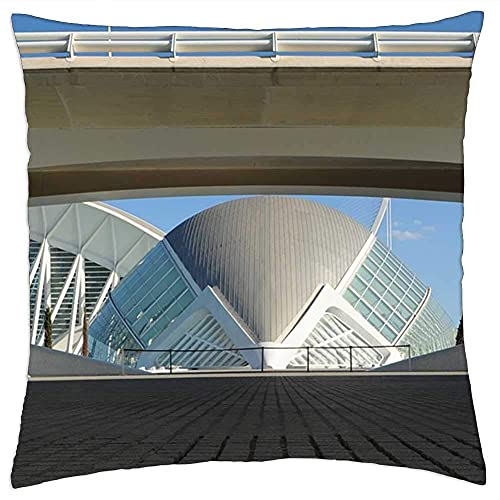 N\A Funda de Almohada Valencia España Arquitectura Edificio Modern Sun 1