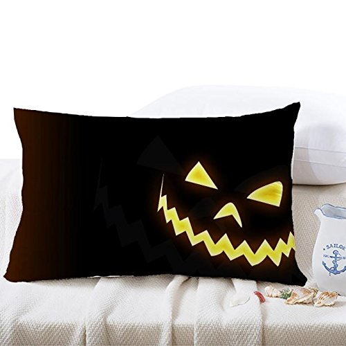 jieGorge 30*50cm Halloween Square Pillow Cover Cushion Case Pillowcase Zipper Closure , Pillow Case for Halloween Day (O)