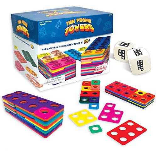 Das Zehnertürme-Spiel - Mathematik Rechnen lernen Zahlen Schule Kinder Schüler Unterricht Lehrmittel trainieren üben Übungen Rechenaufgaben Mathematikaufgaben