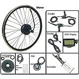 GJZhuan Rueda de Motor sin escobillas Bicicleta eléctrica Kit de conversión de 48V 250W Cassette Trasero con LCD3 Display Kit de Ebike,16inch LCD Sets