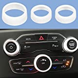 Air Conditioner Switch CD Button Knob for Dodge Challenger Charger 2015-2020   for Chrysler 300(Aluminum Alloy White)