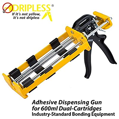Dripless DC600 Dual Component Adhesive Applicator, 22 oz. Dual Cartridge Capacity, 26:1 Thrust Ratio; 1:1 or 2:1 Mix Ratio