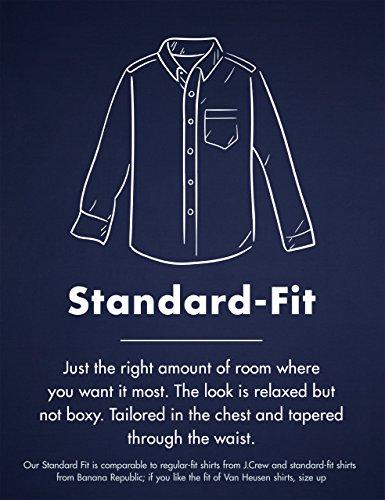 Goodthreads Men's Regular-Fit Long-Sleeve Checked Shirt, Blue/Grey, Medium