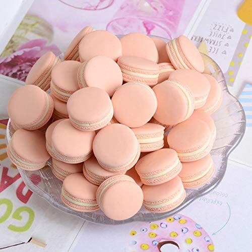 Xinger Food Fotografie Dekor Simulation gefälschte Macaron Requisiten Lebensmittel Modell Dessert Tisch Snack Dekoration künstlichen Kuchen Wohnkultur, Pink