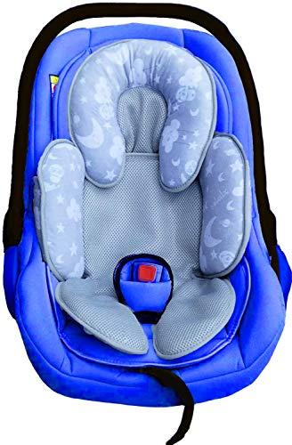 soleilx Reductor universal para cochecito con diseño de panda en el espacio ideal como reductor de cuna o para recién nacido apto para cojín de asiento de coche transpirable, antisudor verano invierno