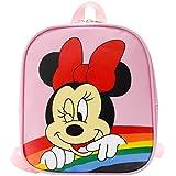Mochila Infantil, Minnie Mouse - Estuche Escolar y Bolsa Merienda, Material Escolar, Regalos para Niñas de 2-6 Años, 21 x 24 x 7 cm