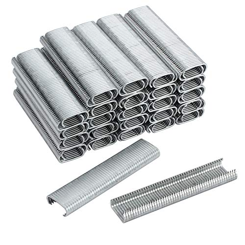 Proster 2500 Stücke C Typ Verzinktem Stahl Heftklammern Clips Hogrings für C7 Auto Feed Fechten Hog Ring Gun