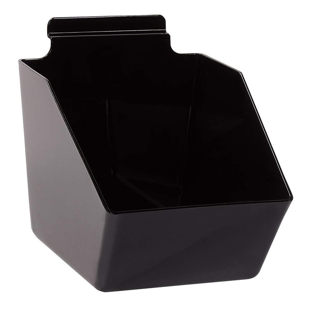 6 x Regular dealer 5 Sacramento Mall ½ 7 inch Black Bin Slatwall - for Dump Plastic