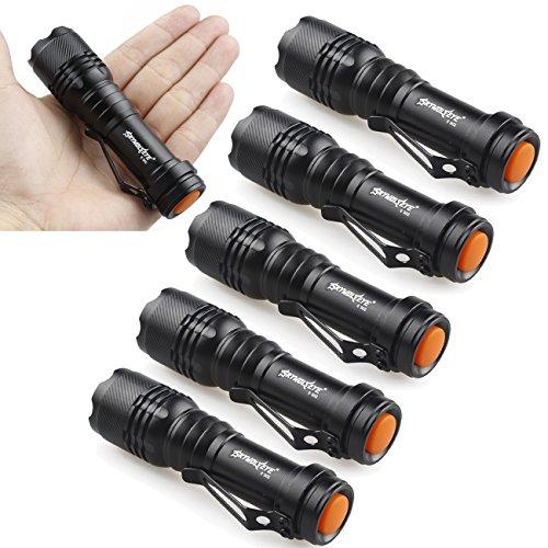 Tonsee 6X Mini CREE Q5 7W 1200Lm LED Flashlight Torch Lamp Adjustable Focus Zoom Light