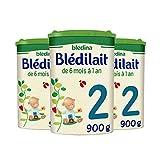 Blédina Blédilait 2, Lait en Poudre pour bébé, De 6 Mois à 12 Mois,...