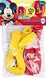 Disney Junior 999240 Set de 6 globos, Rojo y Amarillo