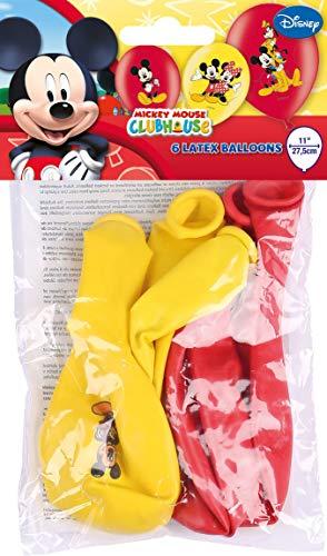 Amscan 999240 - Latexballons Micky Maus, 6 Stück, Luftballons