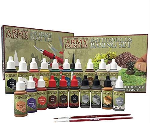 The Army Painter | Super Hobby Collection | 20 Colores Acrílicos con 2 Pinceles | Incluye Instrucciones de uso| Libre de contaminantes