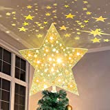 PABIPABI Christmas Tree Topper Lighted Star, Projector Christmas Tree...