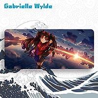 Gabrielle Wylde 大判マウスパッド Fate/Grand Order フェイト グランド オーダー FGO 遠坂凛 パソコン 周辺機器 マウス マウスパッドキーボードパッド漫画 のキャラクター (900 * 400 * 5mm)