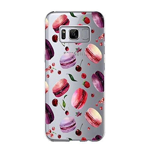 Galaxy S8 Plus Cover Rose Design ,Galaxy S8 Plus Macaron Design Case, Samsung Galaxy S8 Plus TPU Cover Sweatproof Anti Scivolo Antiurto Anti-scratch Custodia per (Macaron, Samsung Galaxy S8 Plus)