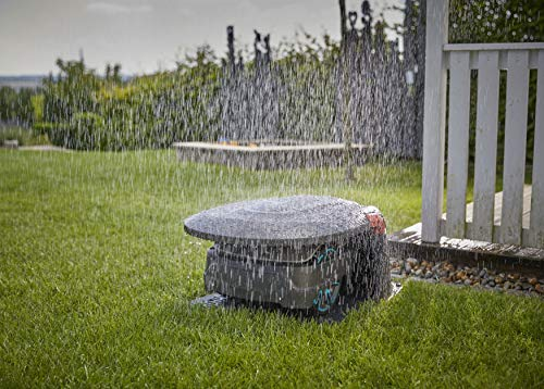 Gardena Garage für Mähroboter: Garage für Rasenmäher, optimaler Sonnen- und Regenschutz für Rasenroboter und Ladestation (15020-20) - 7