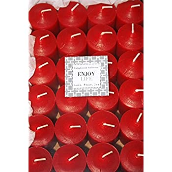 Enlightened Ambience 24 Dickens Christmas Red HIGHLY Scented Votive Candles Long-burning