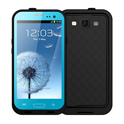 Galaxy S3 Waterproof Case, iThrough Waterproof, Dust Proof, Snow Proof, Shock Proof Case with Touched Transparent Screen Protector, Heavy Duty Protective Carrying Cover Case for Galaxy S3 (Blue)