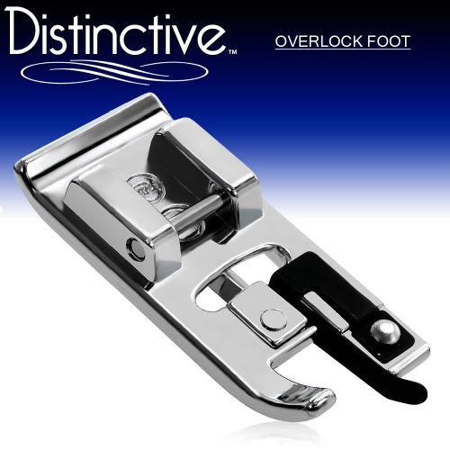 Distinctive Overlock Overcast Sewing Machine Presser Foot - Fits All Low Shank Snap-On Singer, Brother, Babylock, Euro-Pro, Janome, Kenmore, White, Juki, New Home, Simplicity, Elna and More!