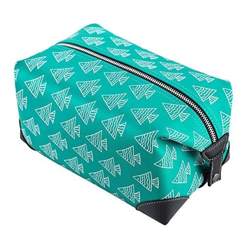 MIRASON Toiletry Bag Dopp Kit Bathroom Shaving Organizer Cosmetic Bag with Handles for Men Boys Traveling Camping Grooming Lightweight Water-resistant PU Leather Toiletries Kit Bag (Green)