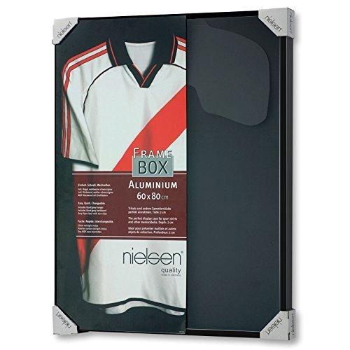 Nielsen Design 8062250 Bilderrahmen, Aluminium, schwarz satiniert, 60 x 80 cm