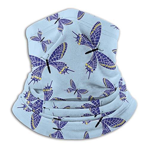 LREFON Pañuelo de Cuello de Mariposa con Textura Azul, pasamontañas más cálido para Hombres, Mujeres, protección contra el Polvo del Viento y el Sol
