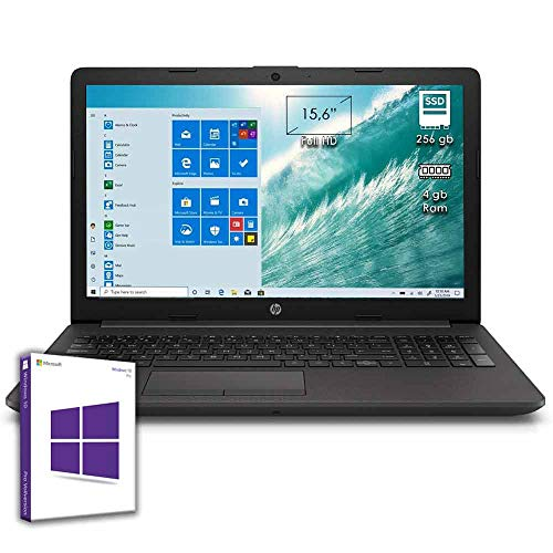 HP 255 G7 Notebook HP 15.6' Display Up to 2.60GHz / RAM 8GB DDR4 / SSD M.2 256 GB / Radeon R3 / Pc Laptop Hp with DVD Burner, CD RW, Wi-fi, Bluetooth, Windows 10 Professional