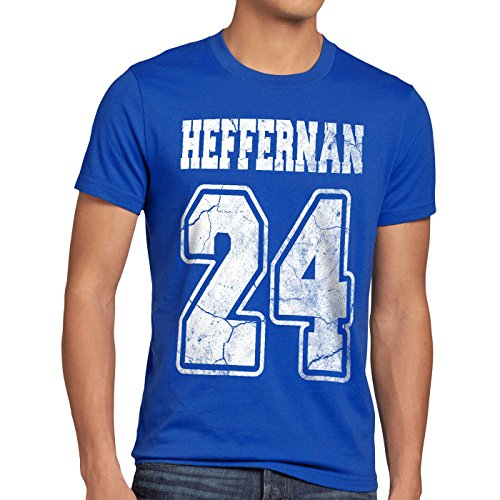 style3 Heffernan 24 T-Shirt Herren Doug Queens Sitcom, Größe:XL, Farbe:Blau