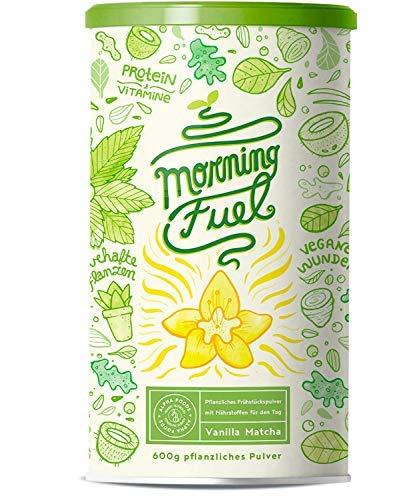Morning Fuel | Vanille Matcha | Morgens Satt & Gesund | Vitamin- und Nährstoffreiche Frühstücksmischung mit Protein aus gekeimten Samen, Quinoa & Mandeln | 600 Gramm Pulver