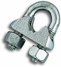 Chapuis BAR10 Set van 25 U-vormige draadklemmen voor kabeldiameter van 5 mm verzinkt staal