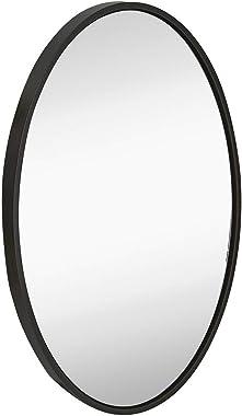 Alfa Design Oval Black Modern Wall Mirror Decorative Design Frameless Mirror