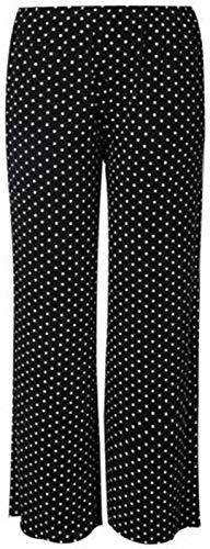 REAL LIFE FASHION LTD RIDDLED Pantalon uni Palazzo pour Femme Coupe Large évasée Imprimé - - XX-Large 48 FR/50 FR