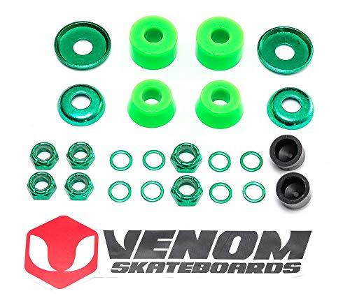 Venom Skateboards/Skateboards, eloxiert, universelles LKW-Rebuild Kit – Zylinder 80a/90a/96a INC Buchsen/Pivot Cups/Muttern etc., 80a / weich