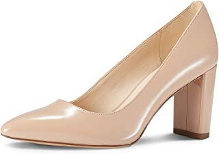 JENN ARDOR Chunky Thick Heel Pumps Pointed Closed Toe Office Dress Lady High Heel Shoes