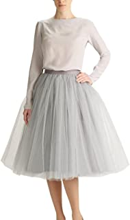 Twinklady Tulle Skirt for Women A Line Knee Length Party Prom Skirt
