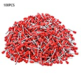 1000Pcs 20AWG Insulated Core End Terminal Crimp Bootlace Ferrule Kit