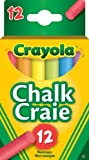 Crayola 51-0812 12 Coloured Chalk, School and Craft Supplies, Teacher and Classroom Supplies