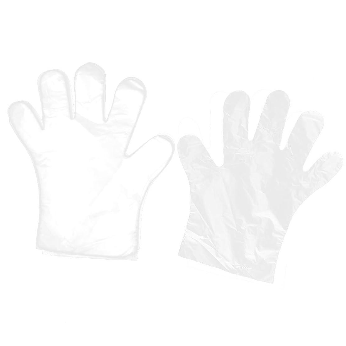 モトリー束ねる残りuxcell 使い捨て手袋 家キッチン レストラン の食べ物サービス ハンド用 透明 100個入り